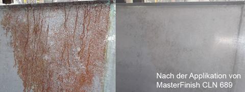 Rost auf Schalung-Reiniger MasterFinish CLN 689