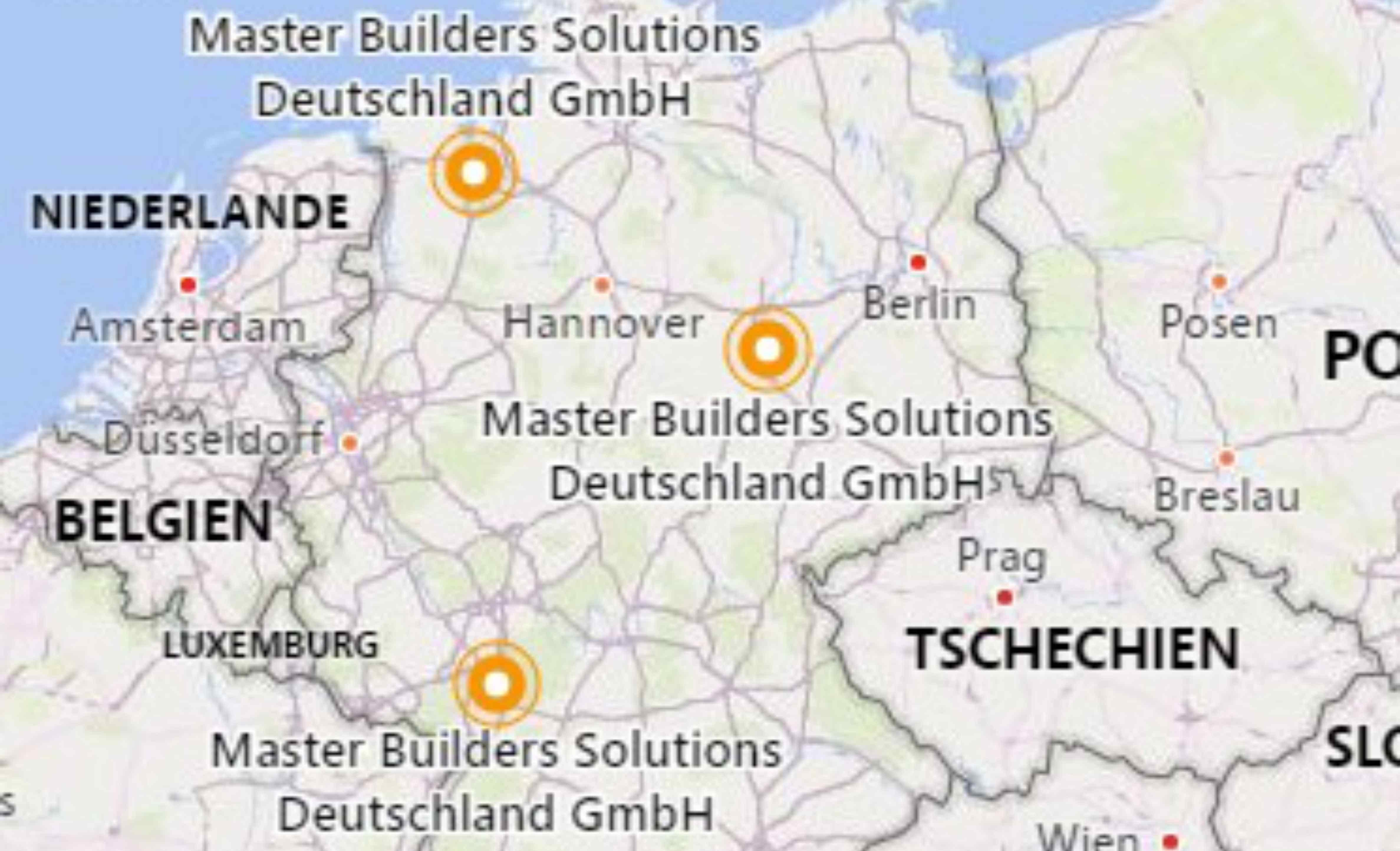 Standorte Master Builders Solutions DE