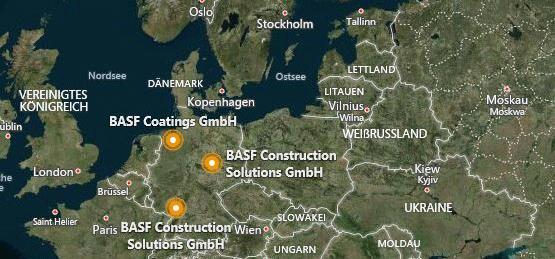 Standorte BASF DE