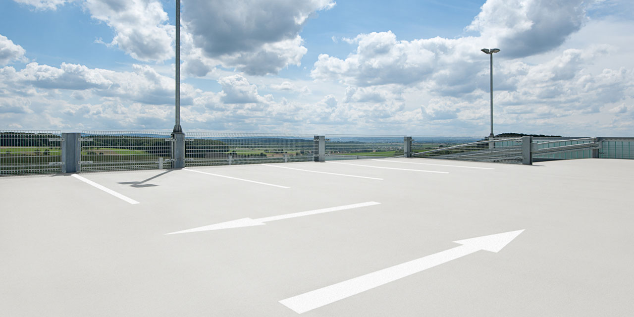 How to properly protect deck surfaces in a car park?