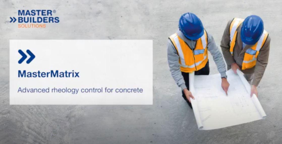 MasterMatrix advanced rheology control for concrete