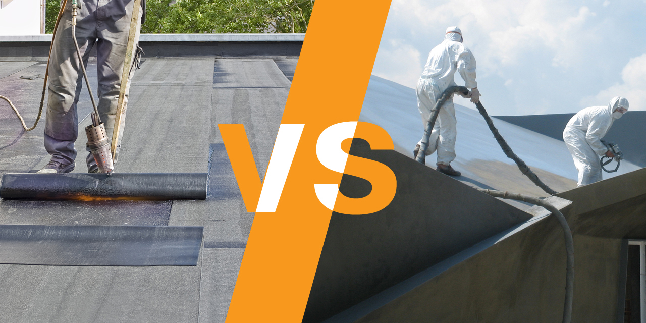 Hot spray applied waterproofing vs. bitumen sheets