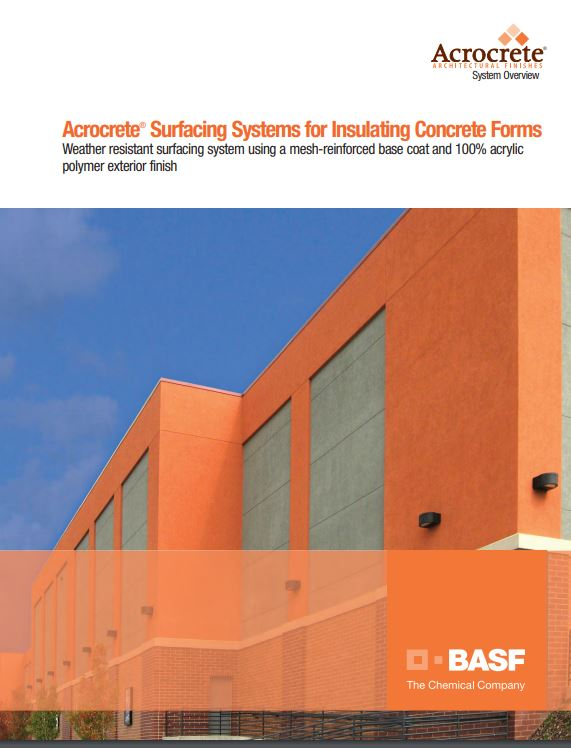Acrocrete Surfacing Systems for ICFs