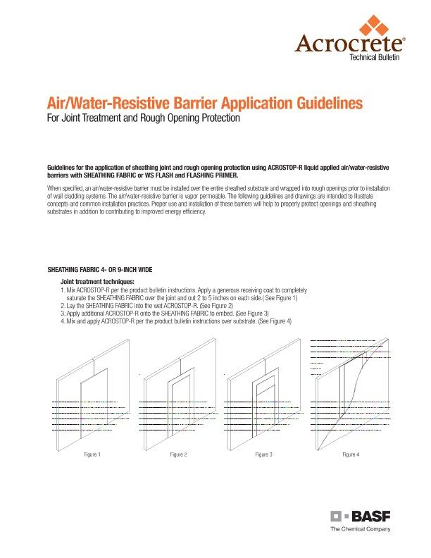 Air/Water-Resistive Barrier Application Guidelines