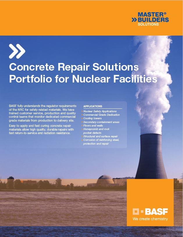 Concrete Repair Solutions for Nuclear Facilities