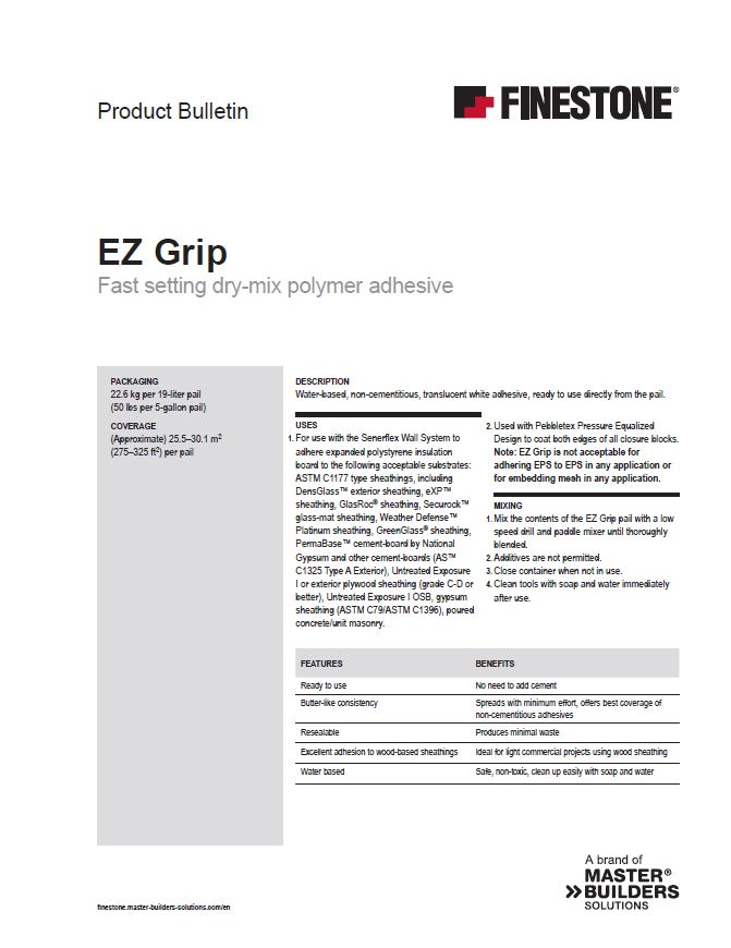 EZ Grip Product Bulletin