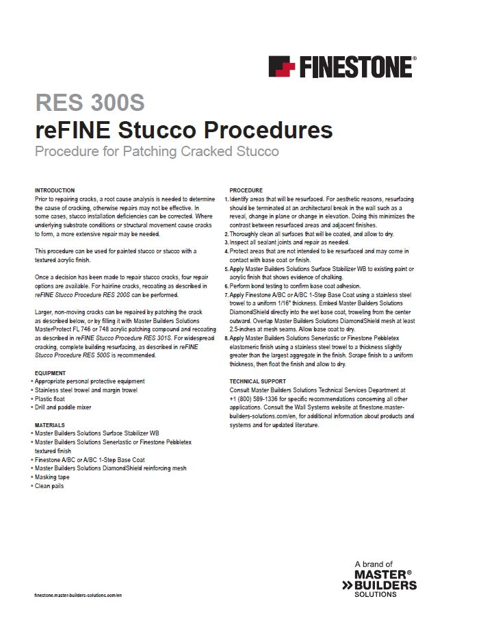 Procedure for Patching Cracked Stucco
