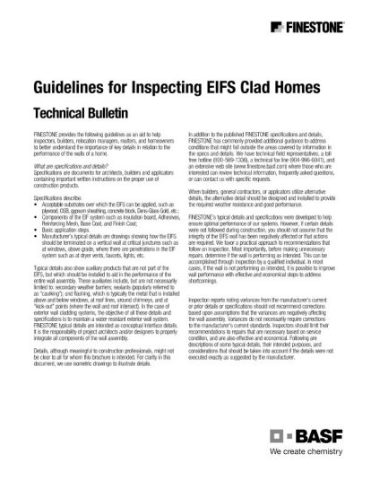 Guidelines for inspecting EIFS clad homes Teaser Image