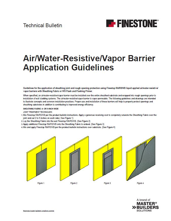 Air/Water-Resistive Barrier Application Guidelines Teaser Image