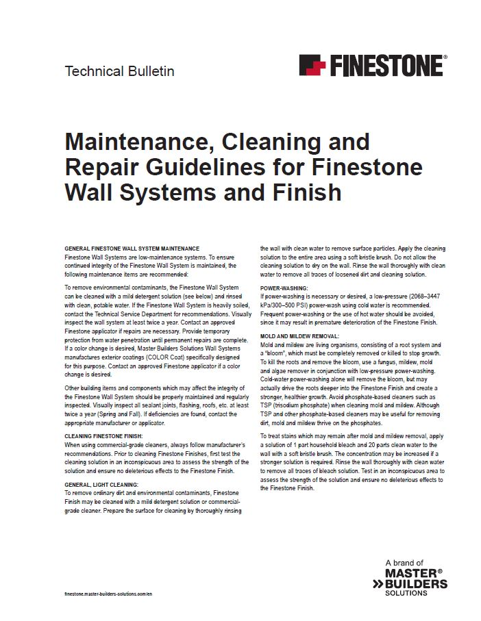 Maintenance, Cleaning and Repair Guidelines for Finestone Wall Systems and Finish Teaser Image