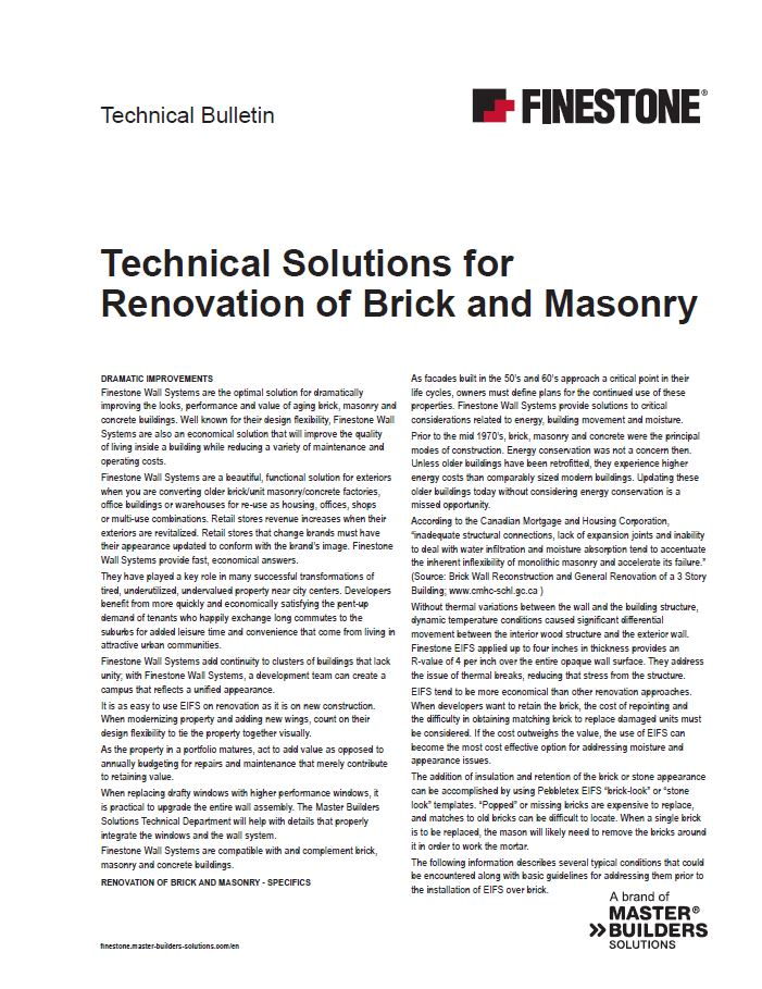 Technical Solutions for the Renovation of Brick and Masonry Teaser Image