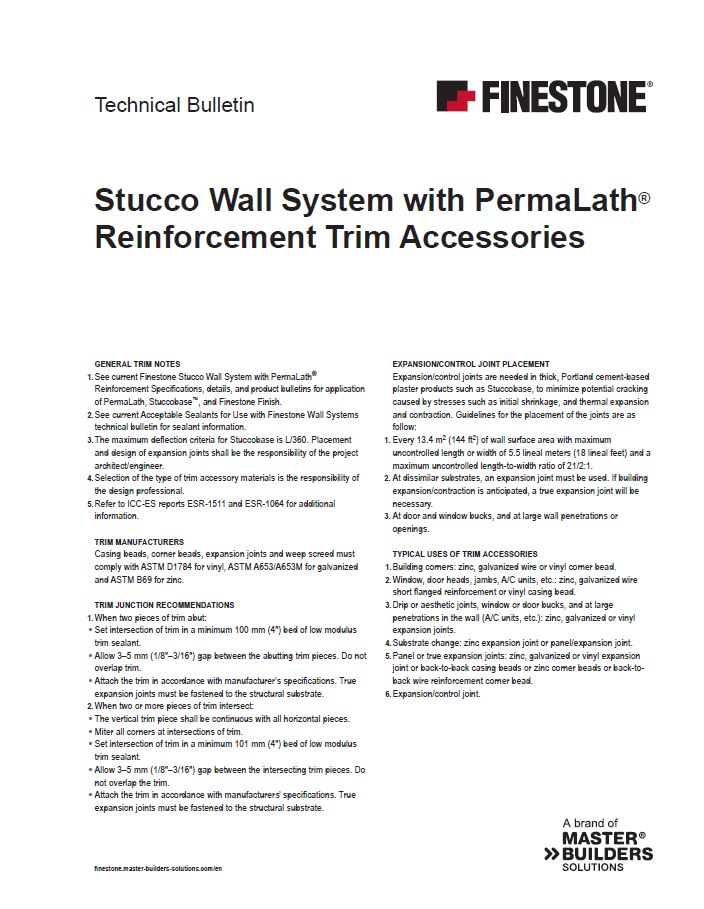Stucco Wall System with PermaLath Reinforcement Trim Accessories
