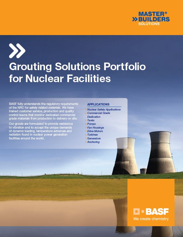 Grouting Solutions for Nuclear Facilities brochure teaser