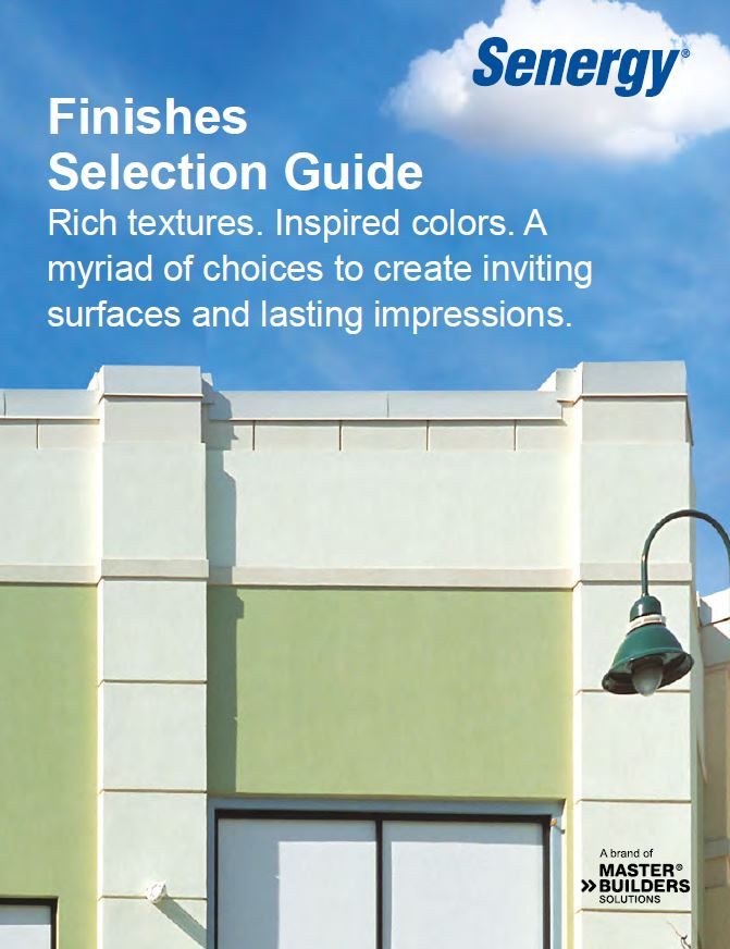 Senergy Finishes Selection Guide
