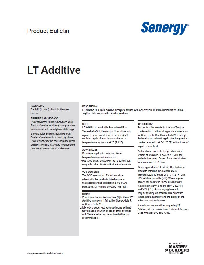LT Additive Product Bulletin