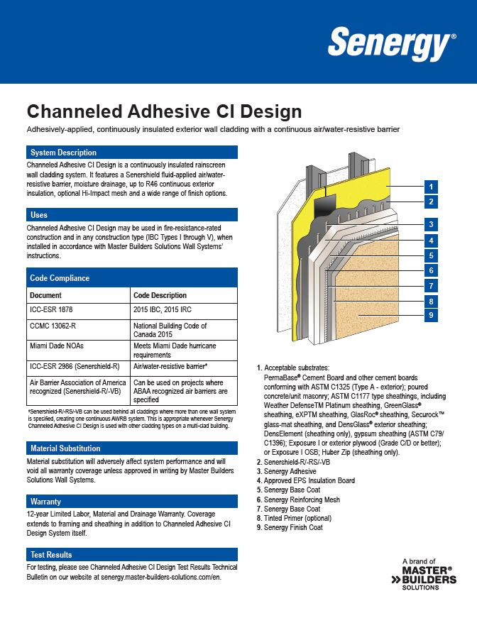 Channeled Adhesive CI Design System Summary