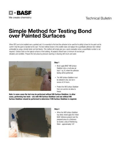 Simple Method for Testing Bond over Painted Surfaces Technical Bulletin Teaser Image