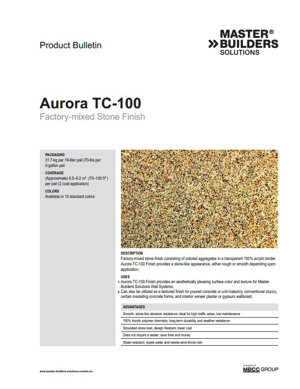 Aurora TC-100 Product Bulletin