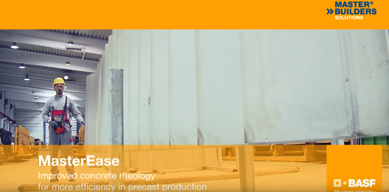 MasterEase – Improved concrete rheology for more efficiency in precast production