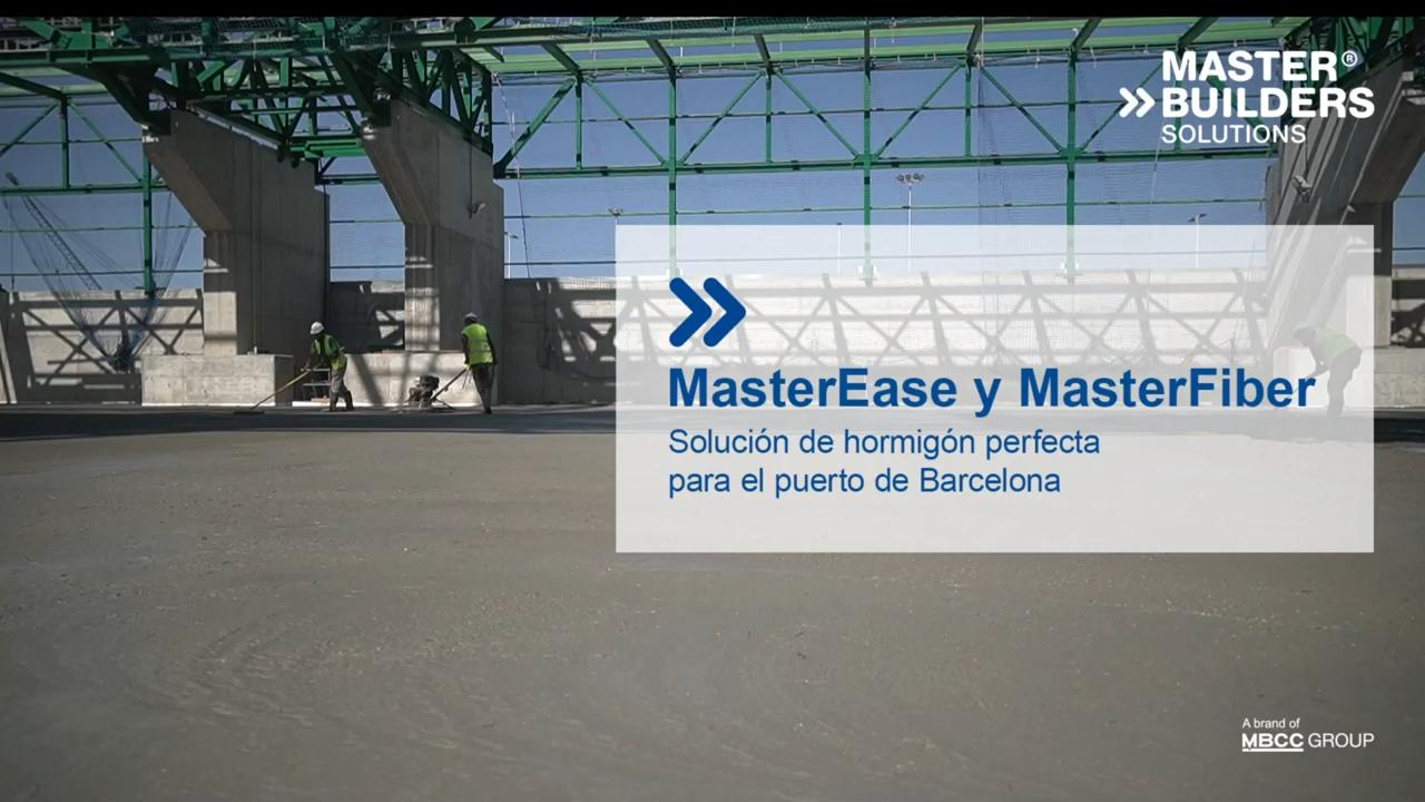 MasterEase y MasterFiber – Solución perfecta para el puerto de Barcelona